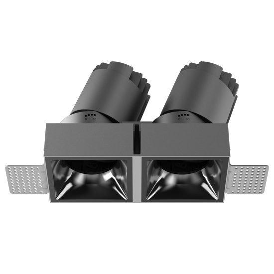 Double heads square shape trimless led downlight